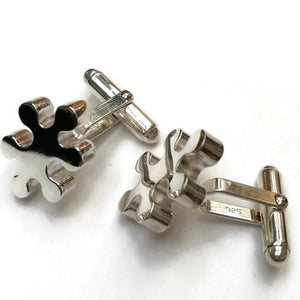 Sterling Silver Jigsaw Cufflinks