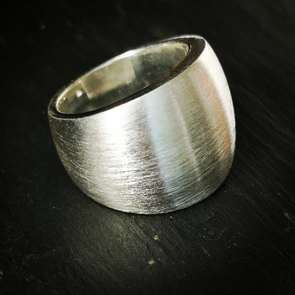 Brushed Finish Statement Ring - Doyle Design Dublin