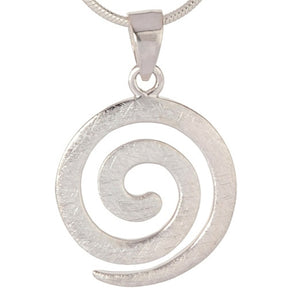 Scratch Finish Spiral Pendant-Silver - Doyle Design Dublin