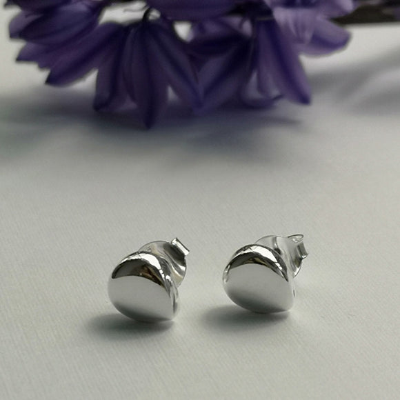 Polished Teardrop Stud Earrings - Doyle Design Dublin