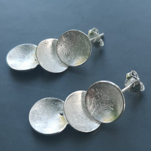 Stepping stone-Drop Earrings Silver - Doyle Design Dublin