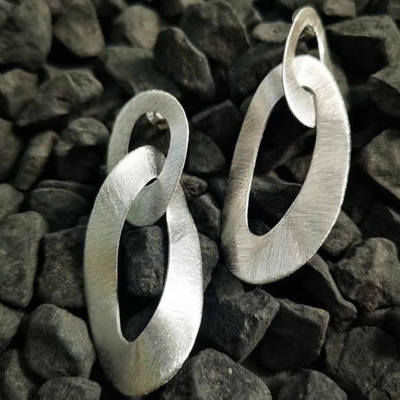 Double Links Drop Earrings - Doyle Design Dublin