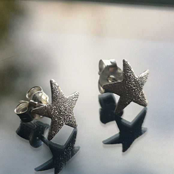 Star Sparkle Stud Earrings - Doyle Design Dublin