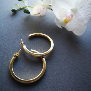 Golden Hoops - Doyle Design Dublin