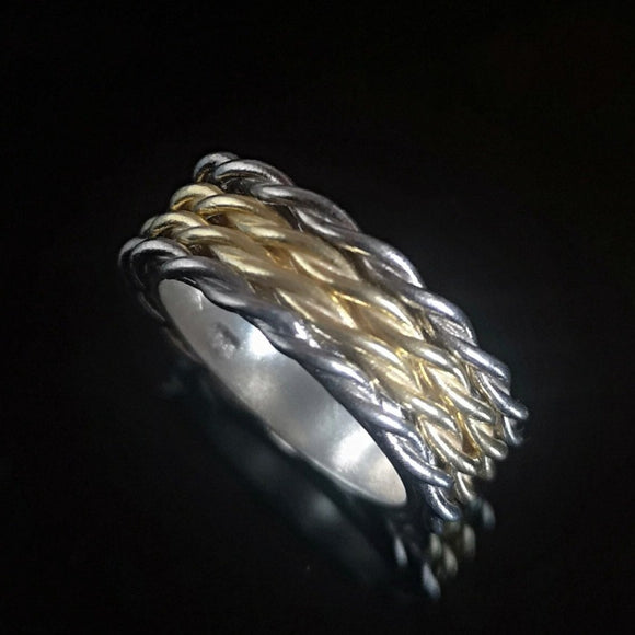 Roped In - Chunky Two Tone Ring - Doyle Design Dublin