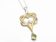Mo Chroí Hearts Pendant (two tone)