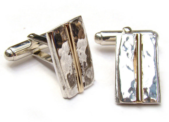 Origin Silver & Gold Cufflinks - Doyle Design Dublin