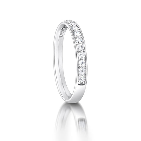 Grain Set Diamond Half Eternity Ring