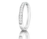 Grain Set Diamond Half Eternity Ring - Doyle Design Dublin