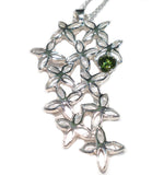 Tumbling Lilac Pendant - set with Gemstone - Doyle Design Dublin