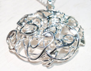 Wicker Pendant - Sterling Silver
