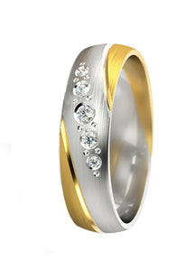 Two Tone Balance Ring - 5mm wide - Doyle Design Dublin
