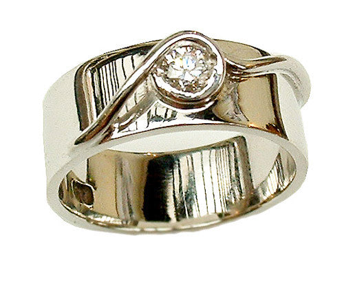 white gold bow ring