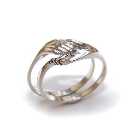 Modern celtic themed designer ring