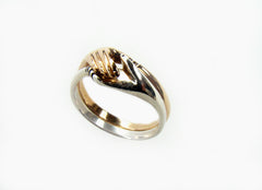 Cara Traditional Irish Friendship Ring (Two Tone)