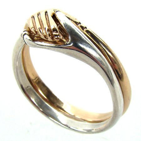 Cara Traditional Irish Friendship Ring (Two Tone) - Doyle Design Dublin