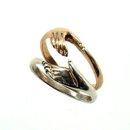 cara friendship ring silver and gold