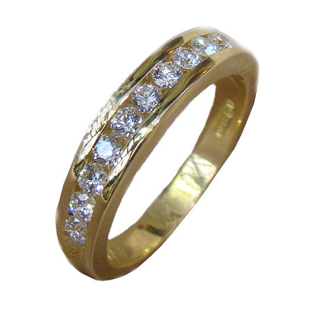 Eternity Ring with Channel Set Diamonds (.50Ct)