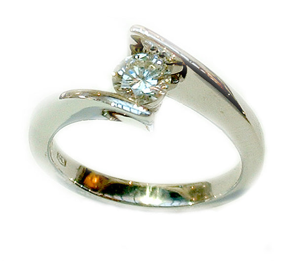 Cross Over Diamond Engagement Ring - Doyle Design Dublin