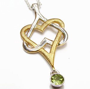 Mo Chroí Hearts Pendant (two tone) - Doyle Design Dublin