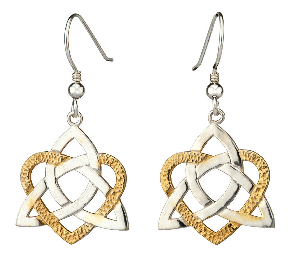 Heart of Celt Earrings - Silver & 22ct Vermeil