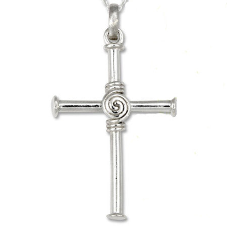 irish spiral cross
