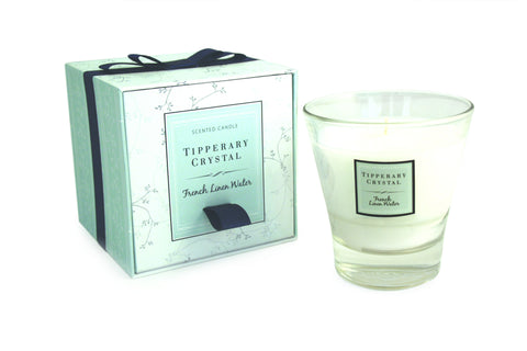 Tipperary Crystal Candle French Linen Water