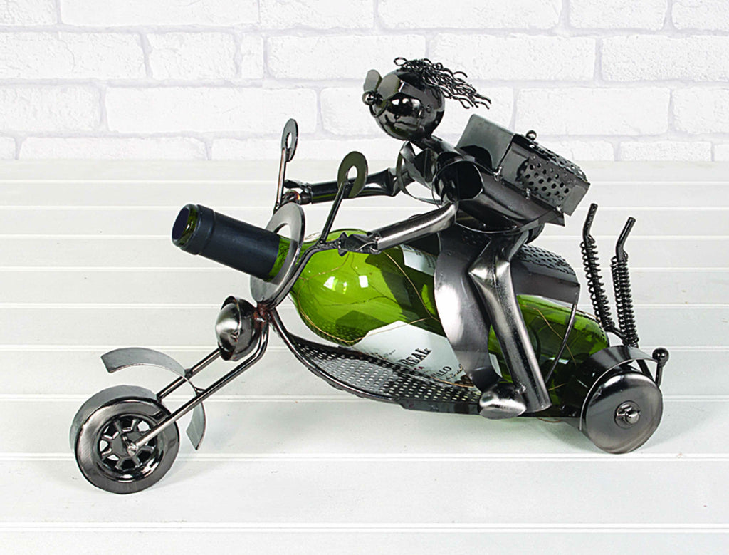 Novelty Wine Bottle Holder Biker