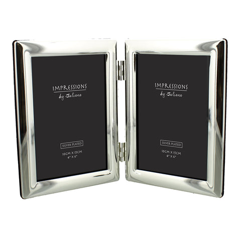 Impressions by Juliana Silver Plated Double Photo Frame 4x6