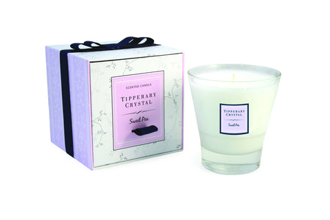 Tipperary Crystal Sweet Pea Candle