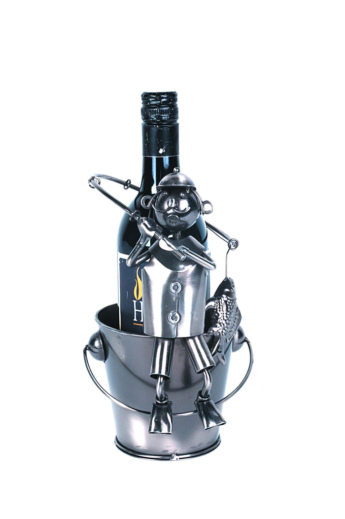 Wine bottle Holder Fisherman