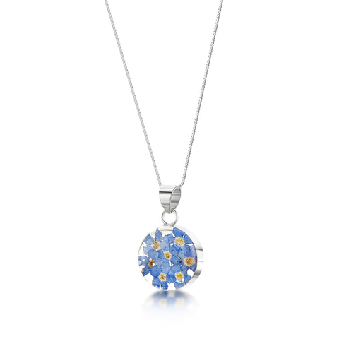 Shrieking Violet Forget Me Not Pendant
