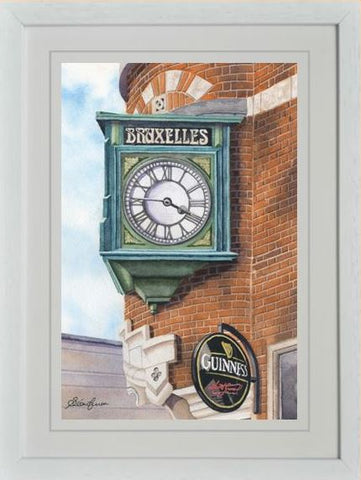BRUXELLES CLOCK REPRODUCTION ART