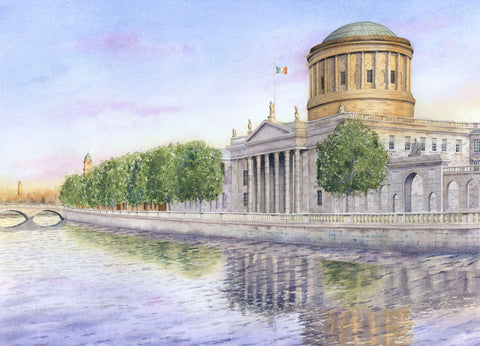 THE FOUR COURTS REPRODUCTION IRISH ART WORK