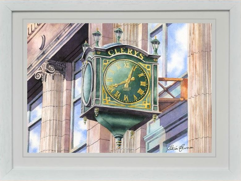 CLERYS CLOCK REPRODUCTION IRISH ARTWORK