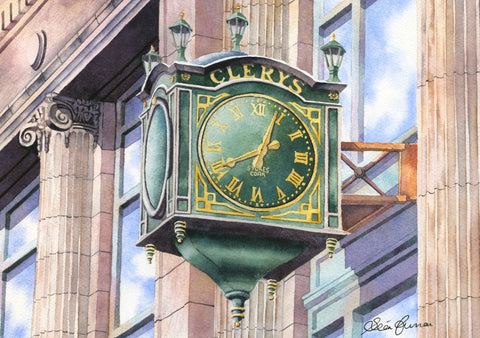 CLERYS CLOCK REPRODUCTION ART WORK