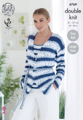 King Cole Cottonsoft Crush DK Pattern 4769 - Cardigan & Top