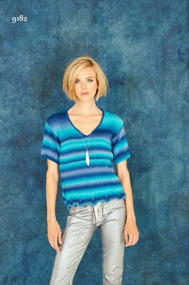 Stylecraft Cabaret DK - Pattern 9182  - Short & Long Sleeve Sweater