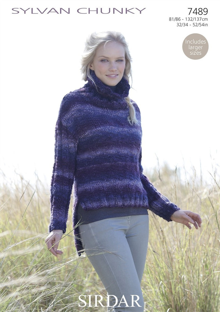 Sirdar Sylvan Chunky Pattern 7489 - Sweater - REDUCED - NOW €1.00