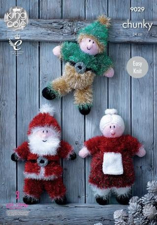 King Cole Tinsel Chunky Pattern 9029 - Santa & Family
