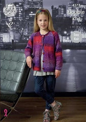 King Cole Shine Pattern 4377 - Cardigan and Top