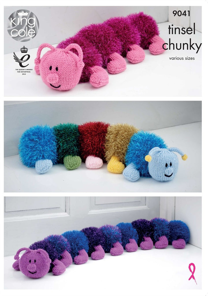 King Cole Tinsel & Big Value Chunky  Pattern 9041 - Caterpillar
