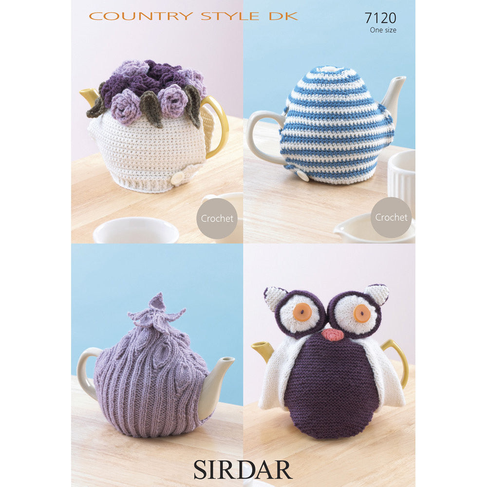 Sirdar Country Style DK Pattern - 7120 Crochet & Knit Teacosies