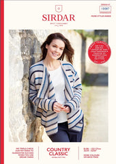 Sirdar Country Classic DK Pattern 10087 - Waterfall Cardigan