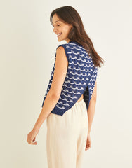 Sirdar Cotton DK Pattern 10247 - Wave Stitch Tank with Crossover Back
