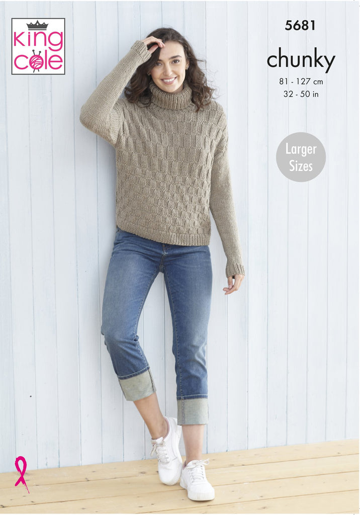 King Cole Subtle Drifter Chunky Pattern 5681 - Ladies Sweaters