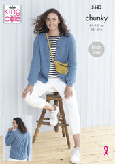 King Cole Subtle Drifter Chunky Pattern 5683 - Ladies Cardigans