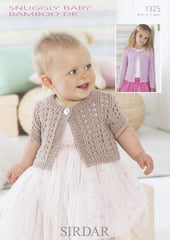Sirdar Snuggly Baby Bamboo DK Pattern 1325 - Long & Short sleeved Cardigan