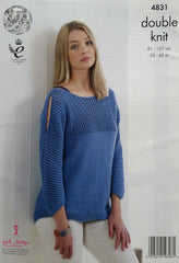 King Cole Smooth DK Pattern 4831 - Cardigan & Sweater
