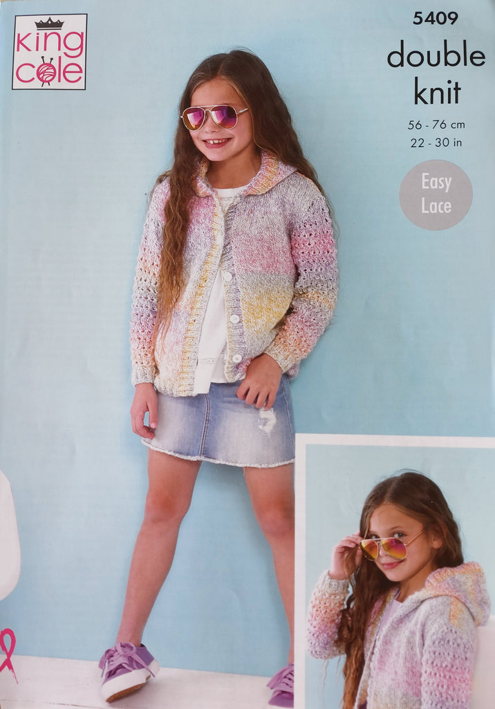 King Cole Caribbean Calypso DK Pattern 5409 - Cardigans